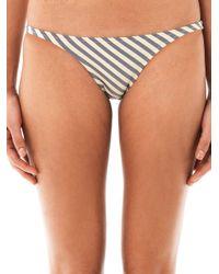 Made By Dawn | Gray Stripe Bikini Briefs | Lyst