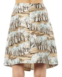 Marni Green Razmir Forestprint Skirt