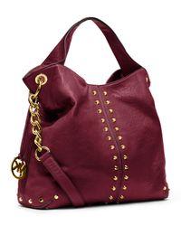 Michael Kors Red Michael Large Uptown Astor Shoulder Bag