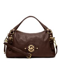 Michael Kors Brown Michael Medium Stockard Shoulder Satchel
