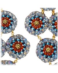 Miguel Ases - Blue Labradorite and Quartz Chandelier Earrings - Lyst