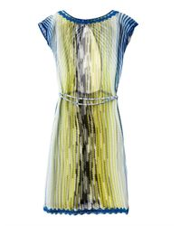 Missoni Yellow Chevron Stripe Knit Kaftan