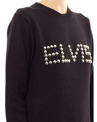 Opening Ceremony Black Elvis Studded Sweater