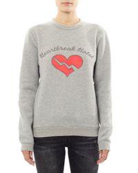 Opening Ceremony Gray Heartbreak Hotel Sweatshirt