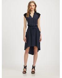 Parker Blue Tallulah Silk Charmeuse Hilo Dress