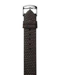 Philip Stein Small Brown Metallic Lizard Watch Strap, 18Mm