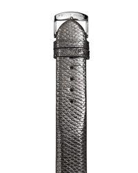 Philip Stein Gray Gunmetal Karung Watch Strap