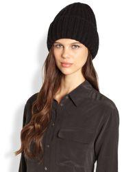 Portolano | Black Chunky Hat | Lyst