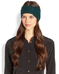 Portolano Green Knotted Cashmere Headband