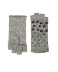 Portolano Gray Pearl Fingerless Gloves