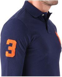 Ralph Lauren Blue Slim-fit Big Pony Polo Shirt for men