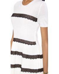 RED Valentino White Lace Ribbon Dress