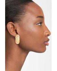 Simon Sebbag | Metallic Gold Crocodile Small Clip Hoop Earrings | Lyst