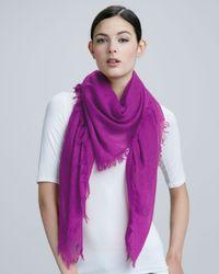 Sofia Cashmere Purple Ultra Lightweight Cashmere Shawl Peony