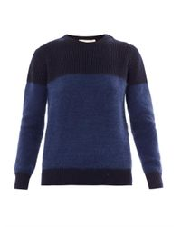Vanessa Bruno Blue Angora Panel Sweater