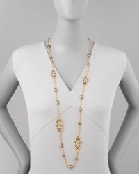 Alexis Bittar - Metallic Elements Crystal Pyrite Lace Necklace 42 - Lyst