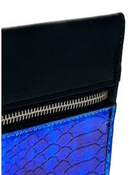ASOS Blue Hologram Clutch Bag