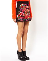 ASOS Multicolor Aline Mini Skirt with Premium Embroidery