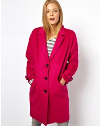 ASOS Limited Edition Pink Mohair Coat