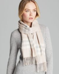 Burberry Natural Giant Check Cashmere Scarf