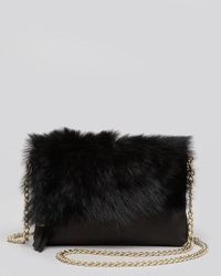 Foley + Corinna Black Stardust Rabbit-fur Mini Crossbody Bag