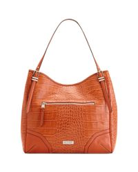 Franco Sarto | Orange Bleeker Croco Large Leather Tote | Lyst