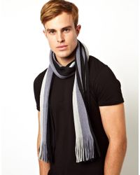 French Connection White Stripe Scarf for men