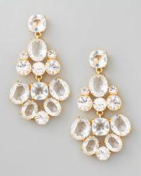 kate spade new york | White Crystal Chandelier Earrings | Lyst