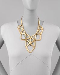 kate spade new york - Metallic Geometric Golden Statement Necklace - Lyst