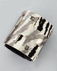 Lanvin | Black White Tiger-Print Cuff | Lyst