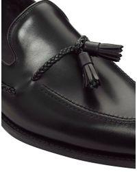Loake Black Tassel Loafers for men