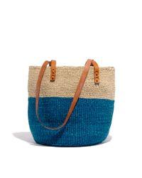 Madewell Blue Bamboula Ltd Beach Bag