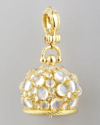 Paul Morelli - Metallic 18k Moonstone/diamond Meditation Bell Pendant - Lyst