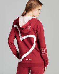Peace Love World Red Hoodie I Am Love Zip