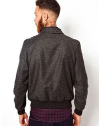 PS by Paul Smith Gray Ps By Paul Smith Bomber Jacket with Fleck for men