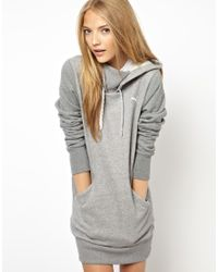 PUMA Gray Hoodie Dress