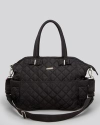 Storksak Black Diaper Bag - Bobby Quilted Three Piece Set