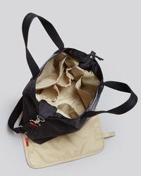 Storksak Gray Baby Bag Python Tote