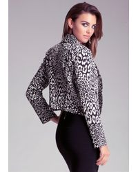 Bebe Natural High Low Shawl Collar Jacket