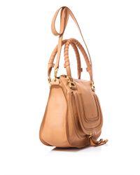 Chloé Brown Aurore Bowling Bag