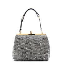 Dolce & Gabbana Gray Miss Agata Tweed Tote