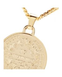 Givenchy Metallic Small Medallion Goldtone Necklace