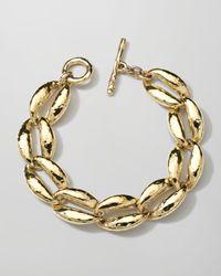 Ippolita | Metallic 18k Gold Glamazon Coffee Bean-link Bracelet | Lyst