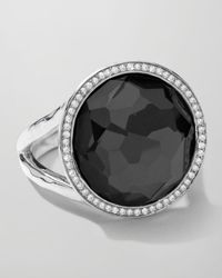 Ippolita | Black Stella Lollipop Ring In Hematite & Diamonds | Lyst