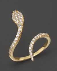Khai Khai | Metallic Diamond Serpent Ring In 18K Yellow Gold, .45 Ct. T.W. | Lyst