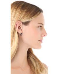 Marc By Marc Jacobs Metallic Link To Katie Stud Earrings