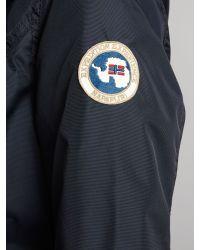 Napapijri Blue Adona Fur Funnel Neck Coat