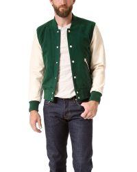 Shipley & Halmos | Green Varsity Jacket for Men | Lyst
