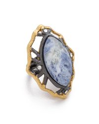 Alexis Bittar - Blue Lace Marquis Sodalite Ring - Lyst