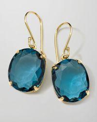 Ippolita | 18k Rock Candy Gelato Kiss Drop Earrings in London Blue Topaz | Lyst